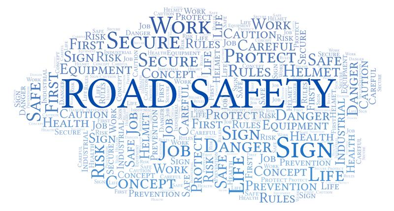 Road Safety word cloud. royalty free illustration