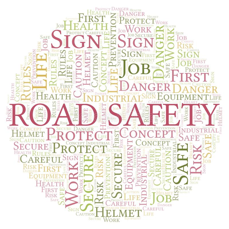 Road Safety word cloud vector illustration