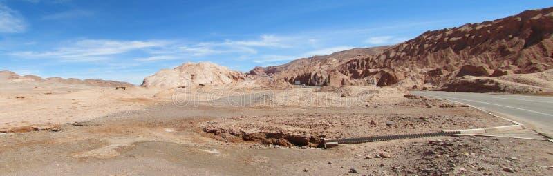 Road in San Pedro de Atacama desert royalty free stock image