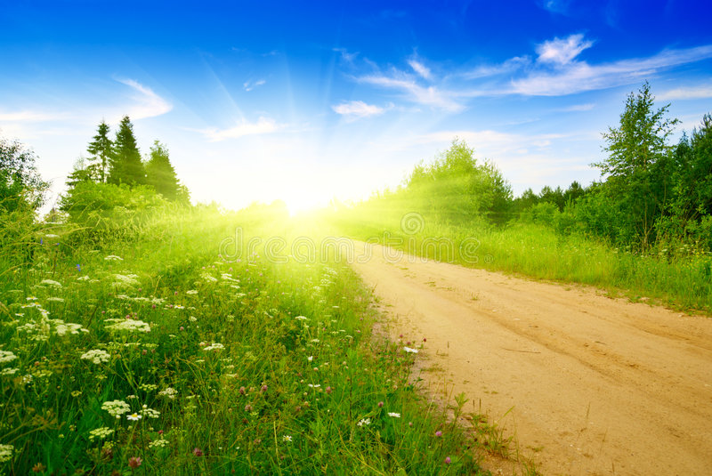 Download Road from sand stock photo. Image of land, country, field - 9208286