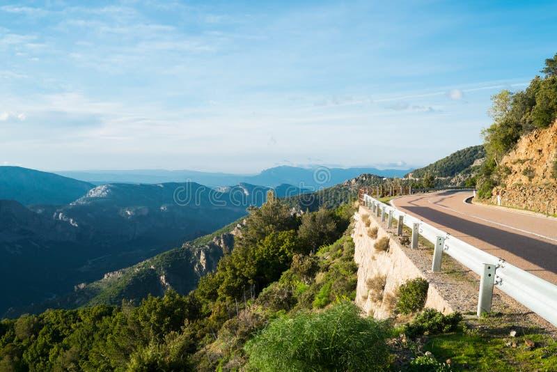 Road 125 in Sardinia royalty free stock image