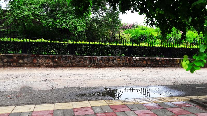 Road side fencing image stock photography
