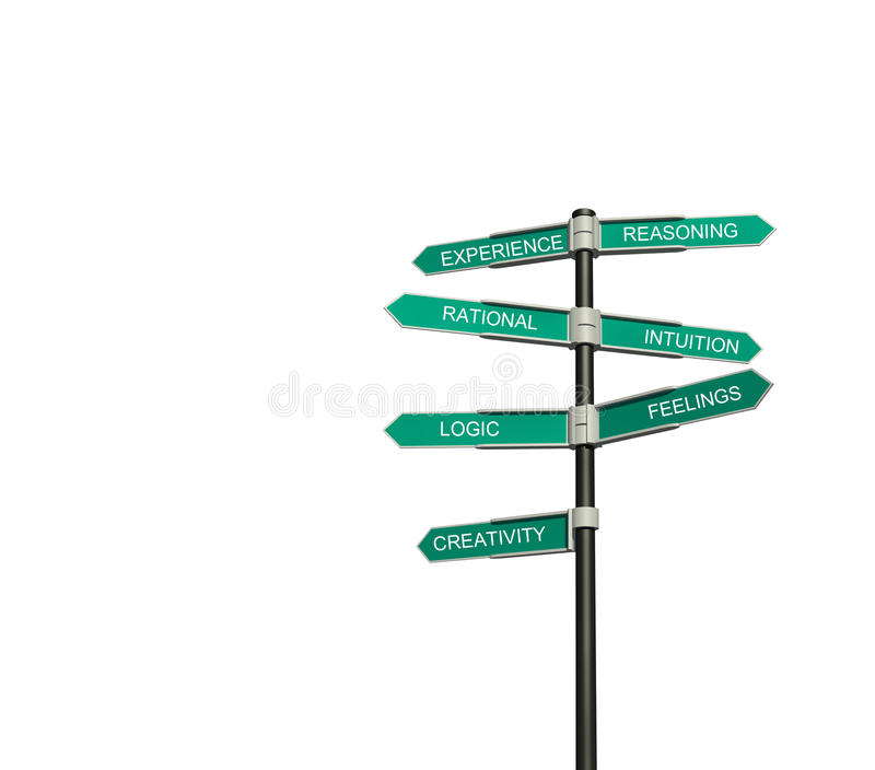 Road sign. Isolated on a white background. Concept stock illustration