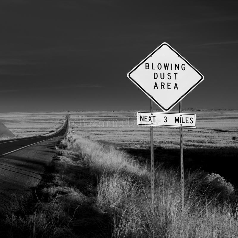 The Road Sign. Road sign in the middle of nowhere in the State of New Mexico, photo in black and white stock images
