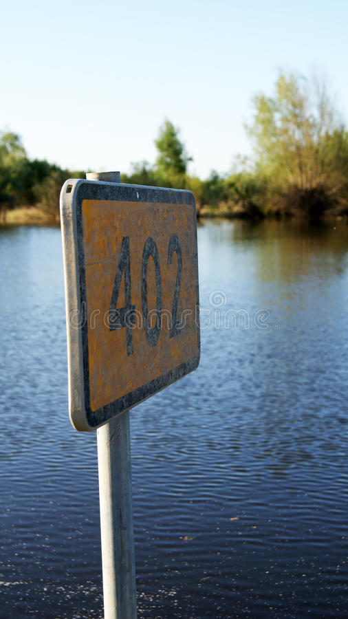 Download Road sign stock photo. Image of water, image, falling - 18351842