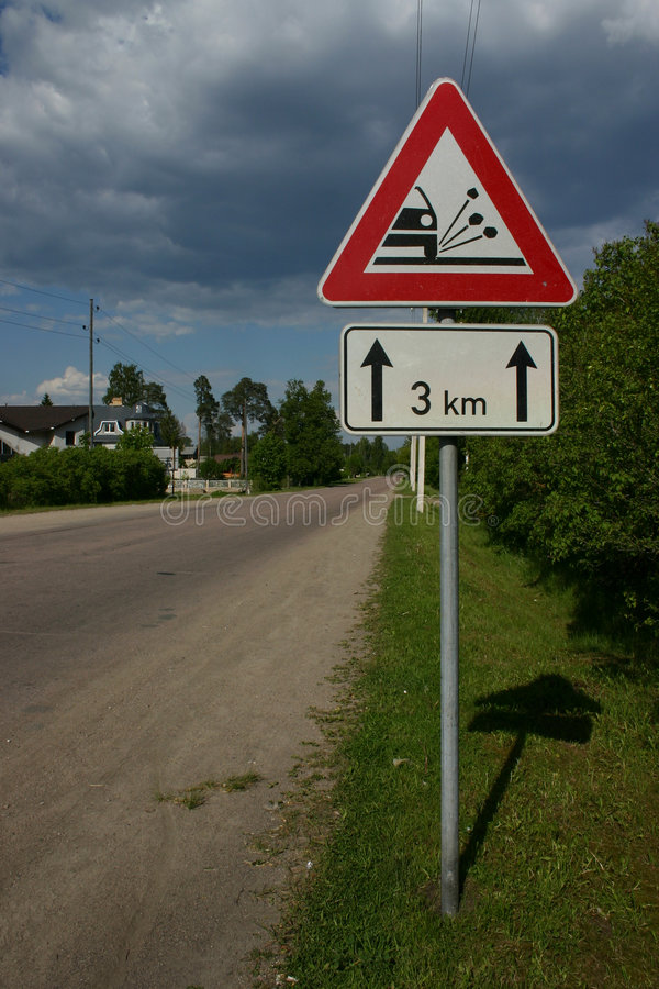 Download Road sign stock image. Image of attention, warning, road - 20917