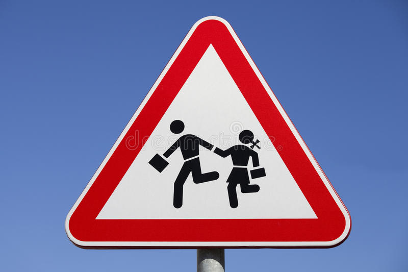 Download Road Sign stock image. Image of caution, stop, post, silhouette - 24864799