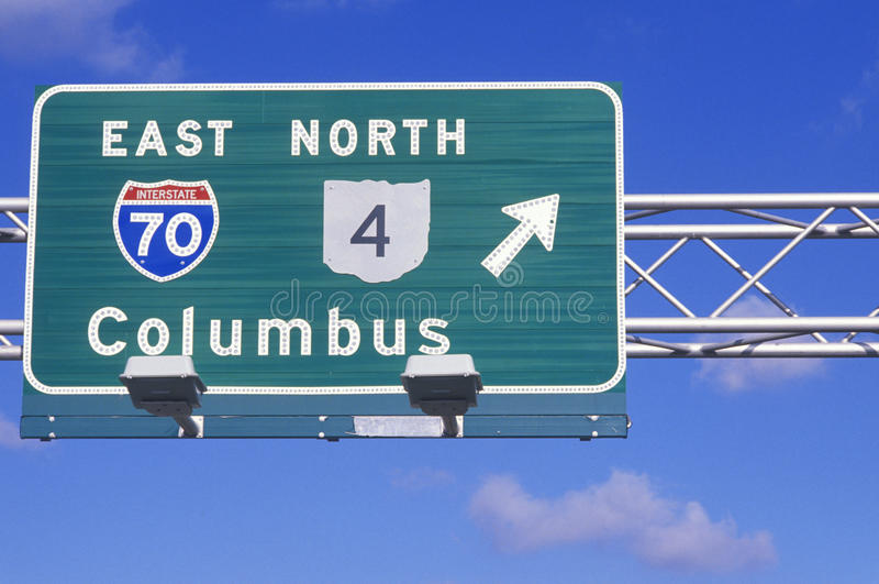 Download Road sign stock photo. Image of highway, ohio, united - 26889800