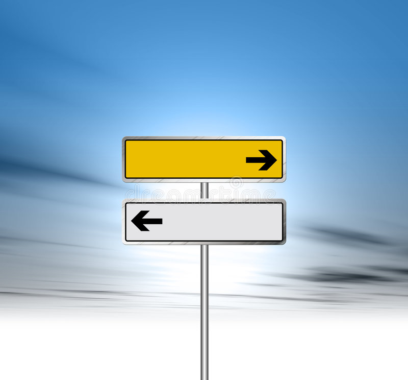 Road Sign. An illustration of a Road Sign against blue sky royalty free illustration