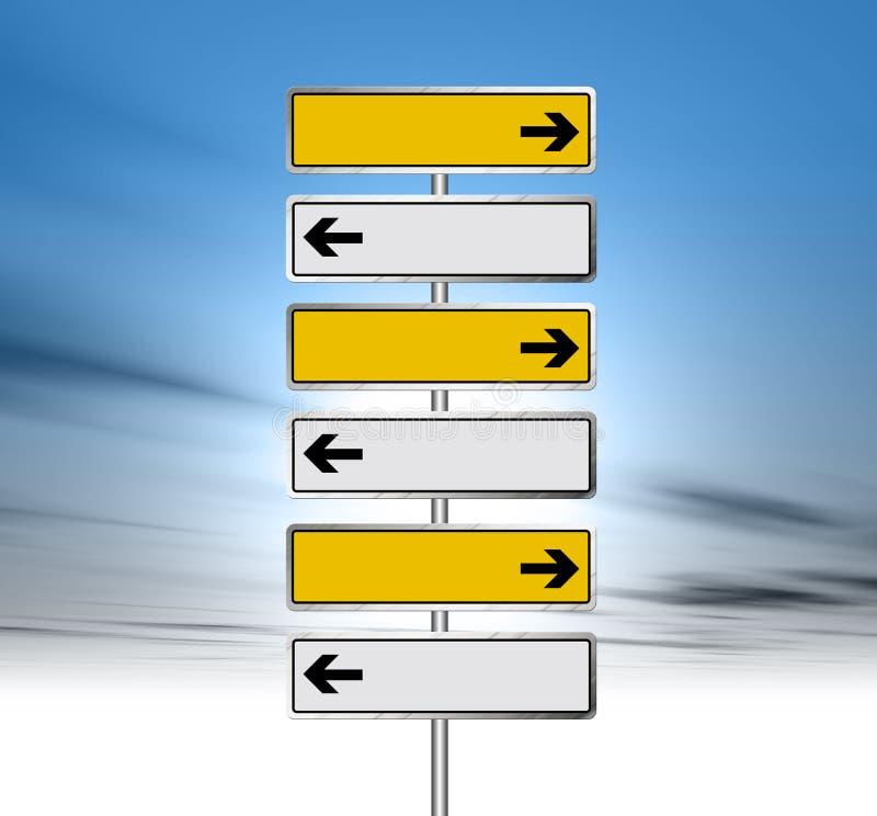 Road Sign. An illustration of a Road Sign against blue sky stock illustration