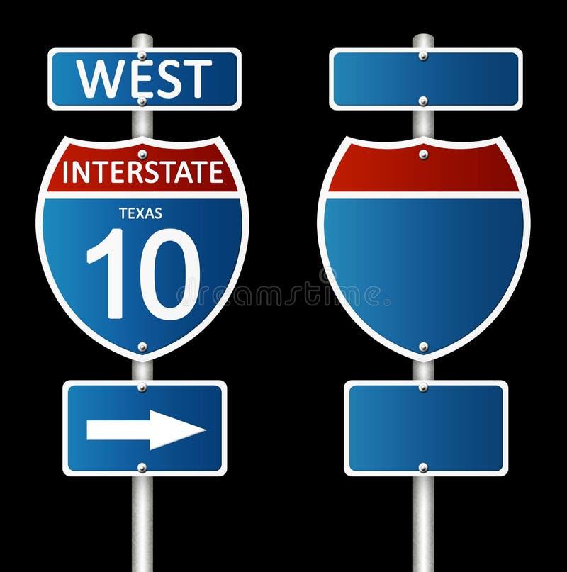 Road sign royalty free illustration