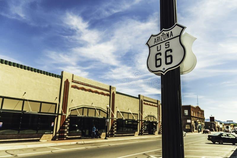 Road sign road 66 in Arizona. Road sign US road 66 in Williams, Arizona stock photography