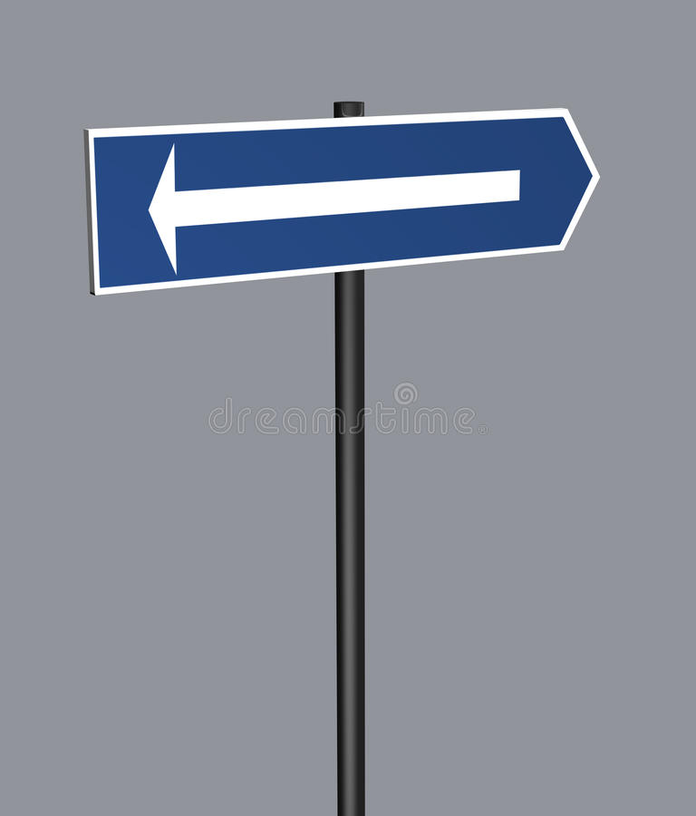 Download Road Sign Arrow stock illustration. Image of ideas, blank - 37425273