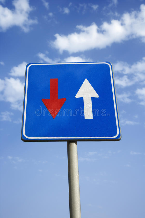 Road Sign With Arrows royalty free stock photos