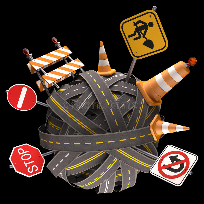 Download Road Sign stock illustration. Image of earth, roadway - 31728305