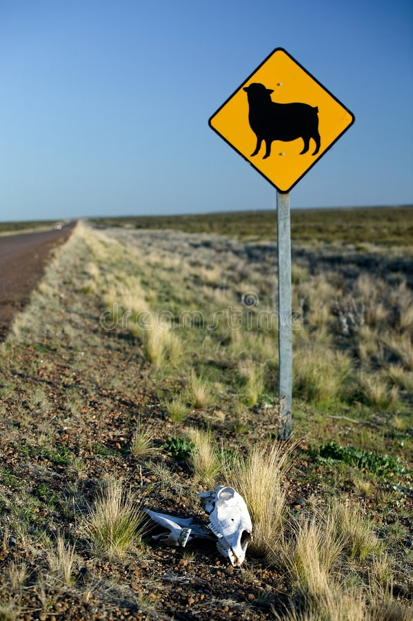 Road Sign With Bounce Stock Image