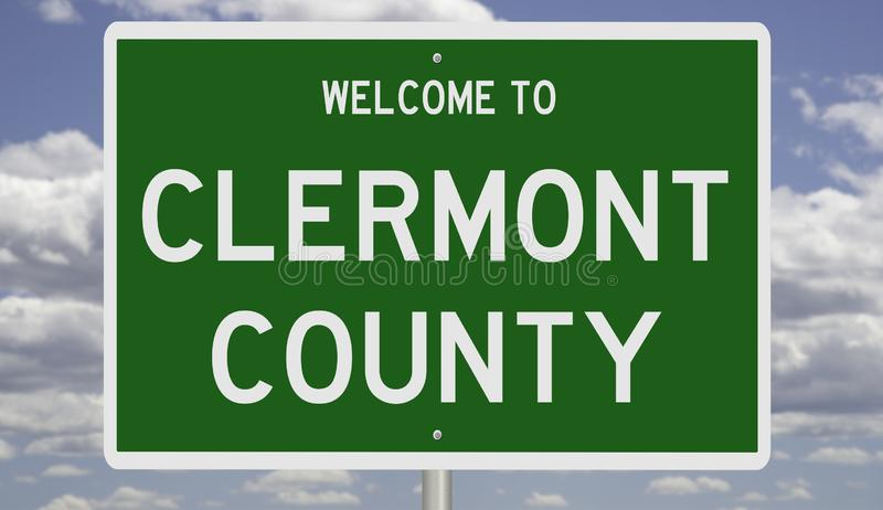 Road sign for Clermont County 免版税库存图片