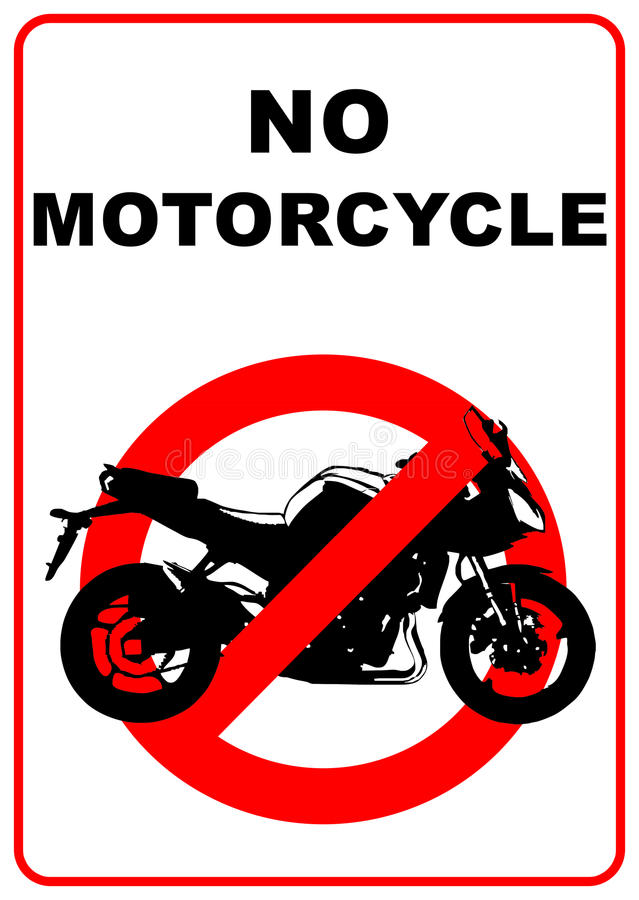 No motorcycles sign royalty free illustration