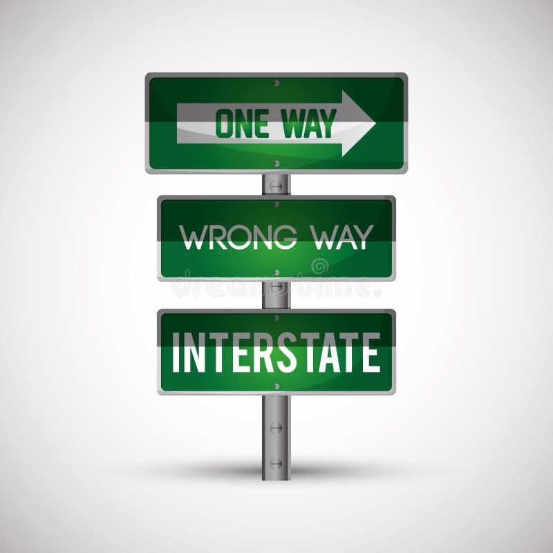 Road sign design , vector illustration. Road sign concept with icon design, vector illustration 10 eps graphic royalty free illustration