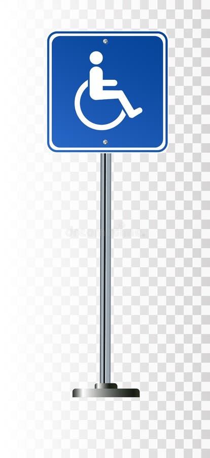 Road sign disabledroad sign disabledroad sign disabledroad sign disabled stock illustration