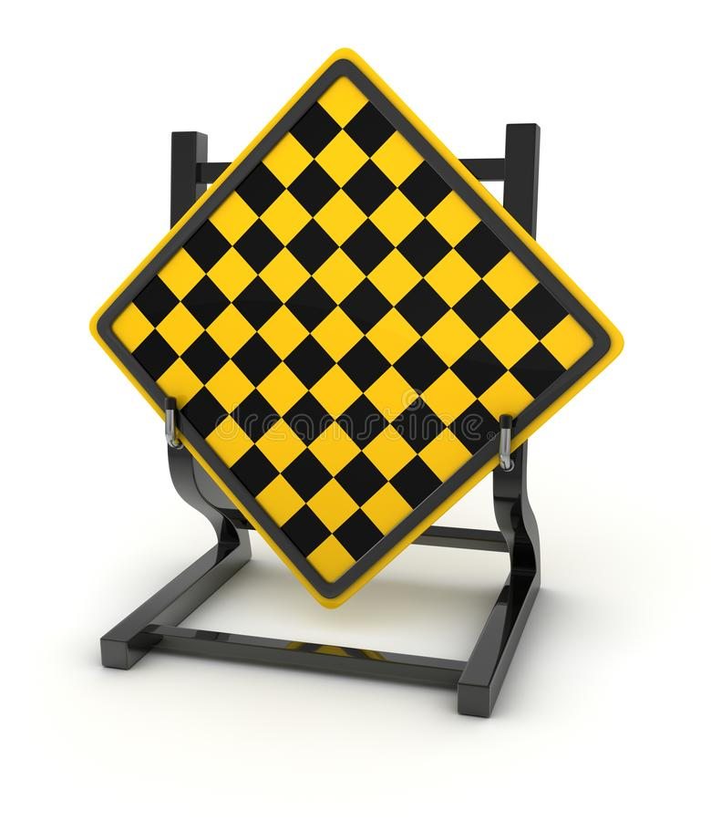 Road sign - end of the line. This is a computer generated and 3d rendered picture vector illustration