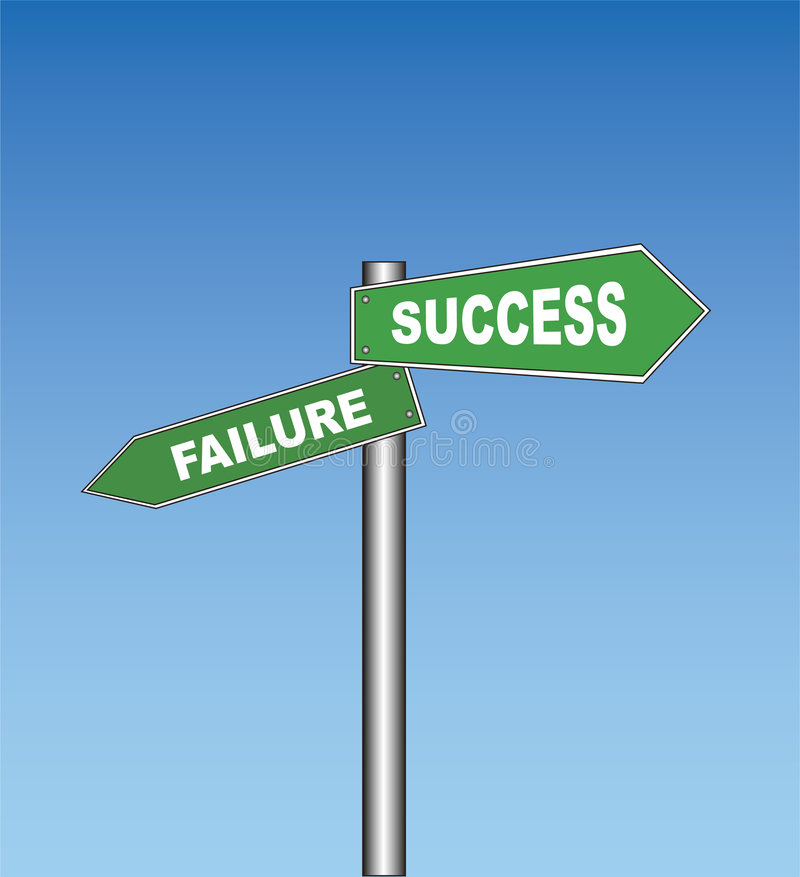 Download Road Sign: Failure / Success Stock Illustration - Image: 943399