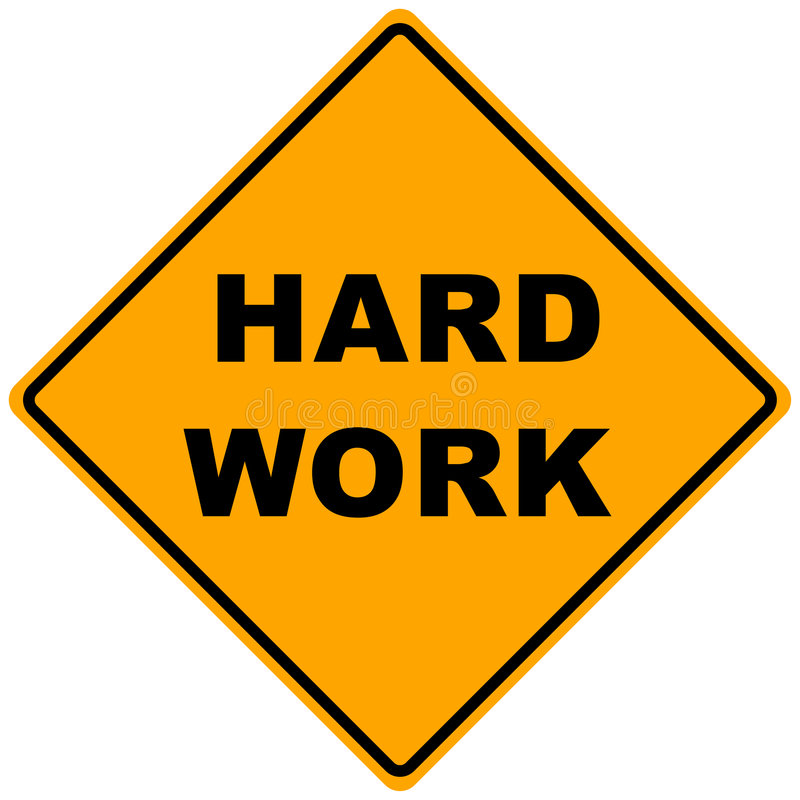 Download Road Sign Hard Work stock illustration. Illustration of mark - 6965324