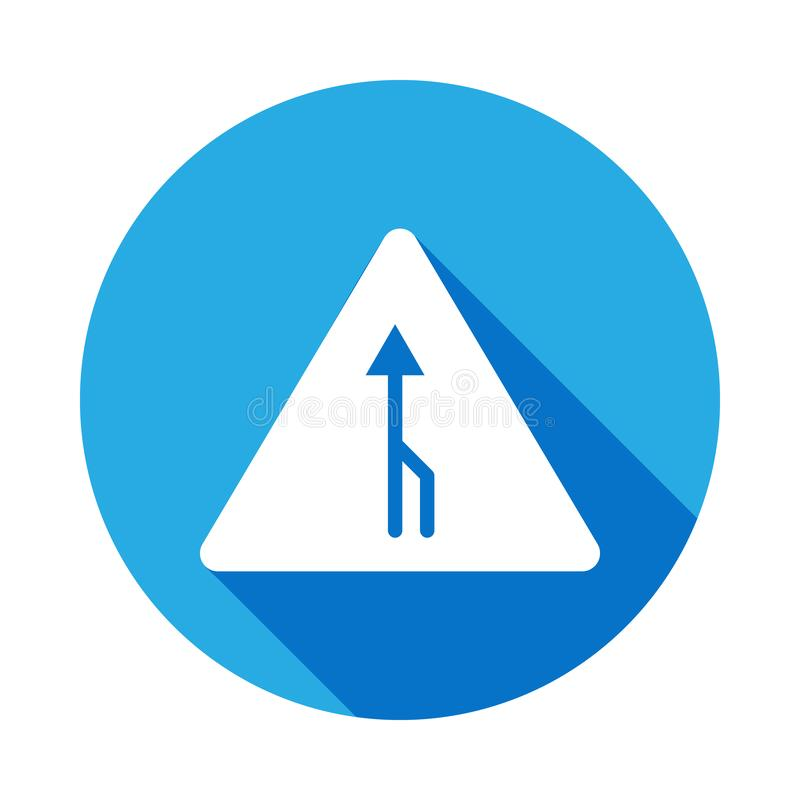 road sign icon with long shadow. Element of web icons. Premium quality graphic design icon. Signs and symbols collection for vector illustration