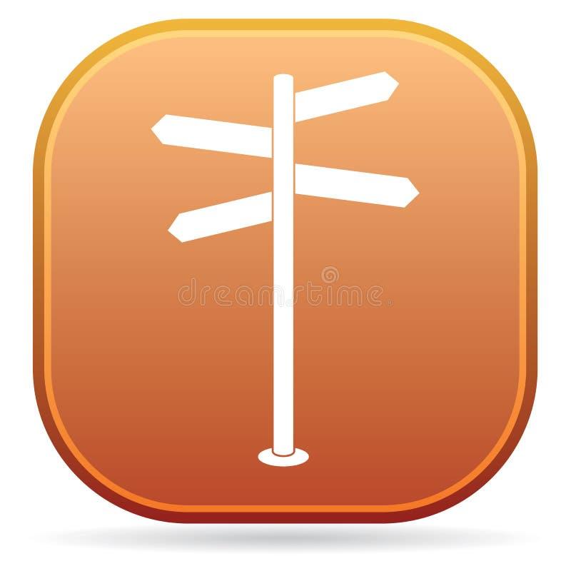 Road Sign icon. Vector illustration stock illustration