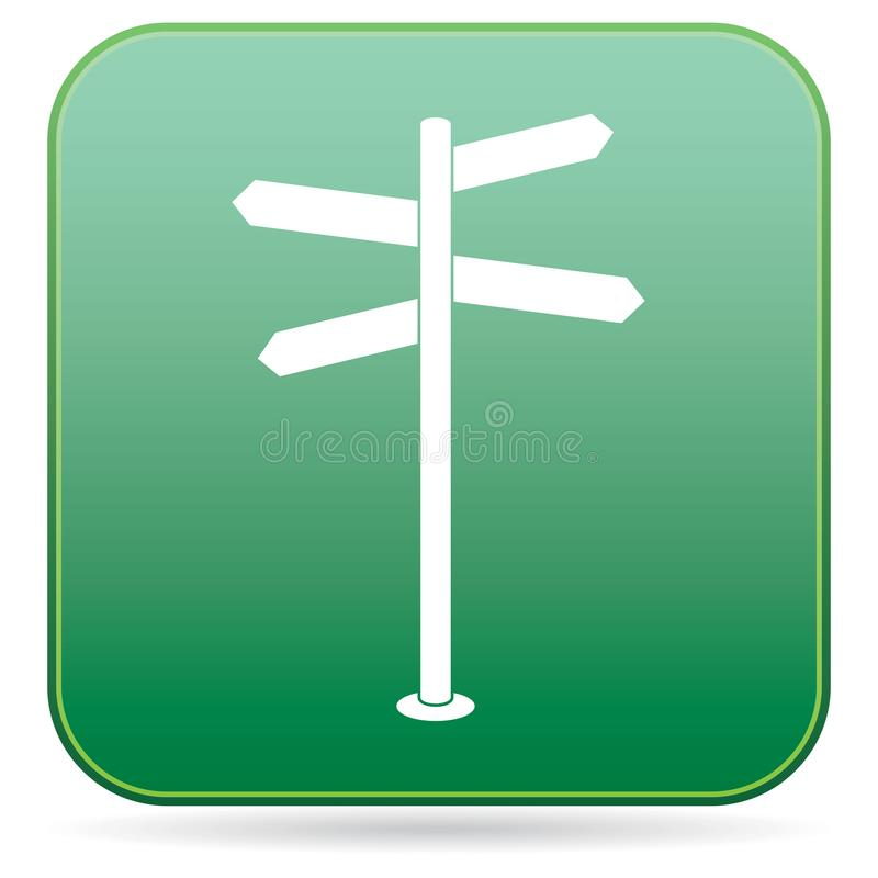 Road Sign icon. Vector illustration vector illustration
