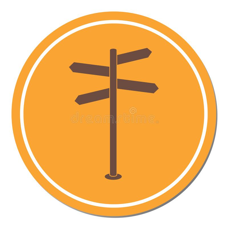 Road Sign icon. Vector illustration royalty free illustration