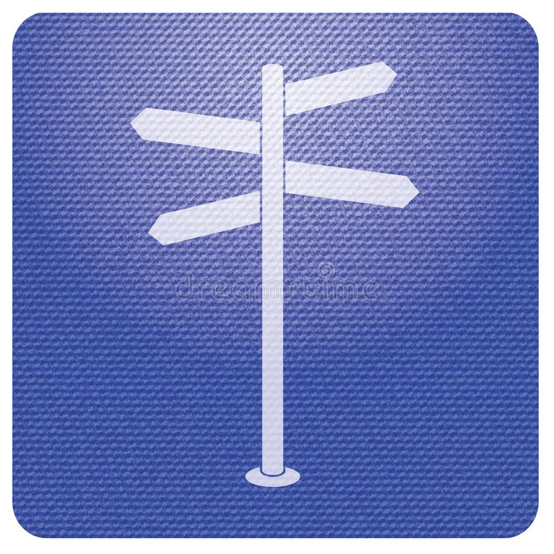 Road Sign icon. Vector illustration stock illustration