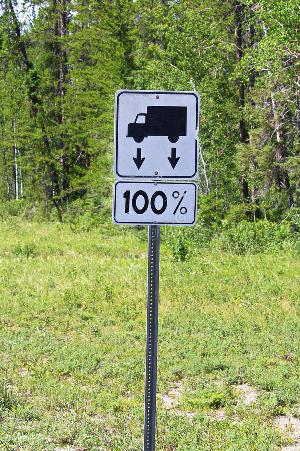A road sign indicating that there currently are no load restrictions stock image