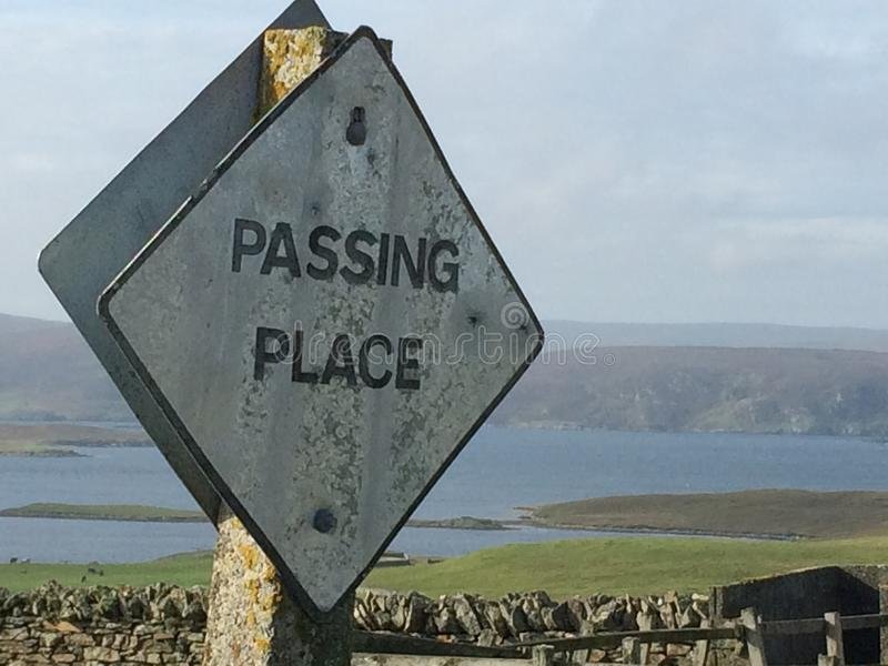 Passing place - Road sign royalty free stock photos