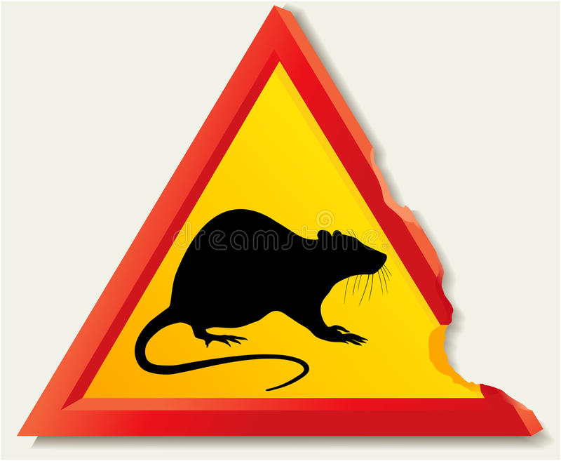 Download Road sign with rat stock vector. Image of walls, infection - 29594080