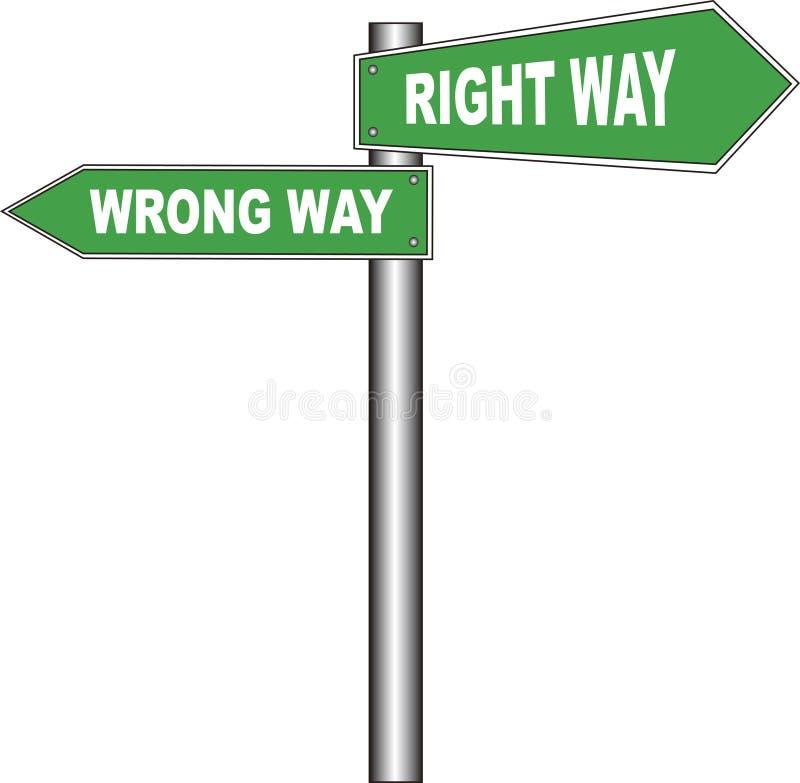Download Road Sign: Right Way / Wrong Way Stock Illustration - Image: 943395
