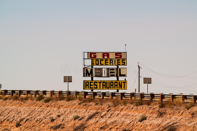 Download Road Sign On Route 66 Stock Photo - Image: 27900140