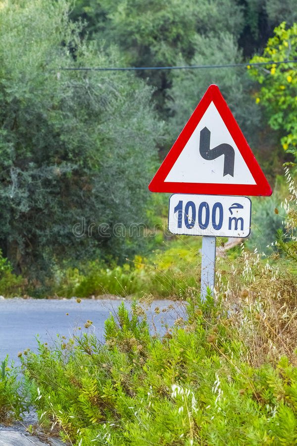 Road sign. Safety sign in Cluj-Napoca city in Romania royalty free stock photos