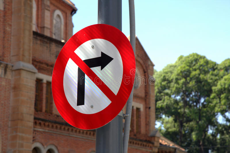 Road sign in Saigon royalty free stock image
