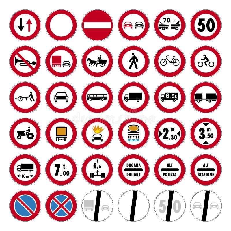 Road sign set vector illustration