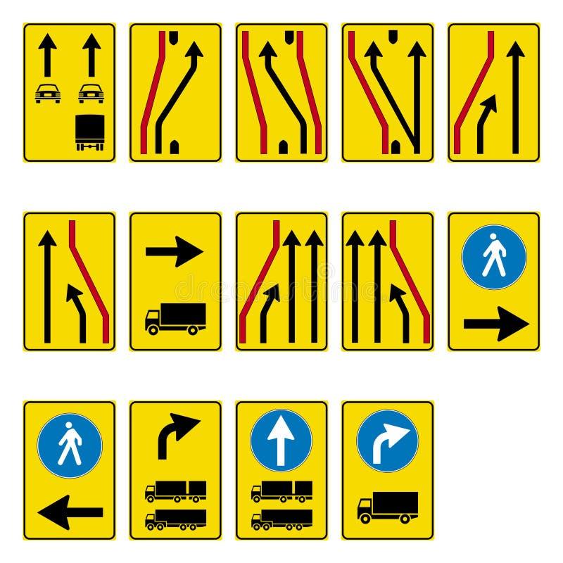 Road sign set royalty free illustration