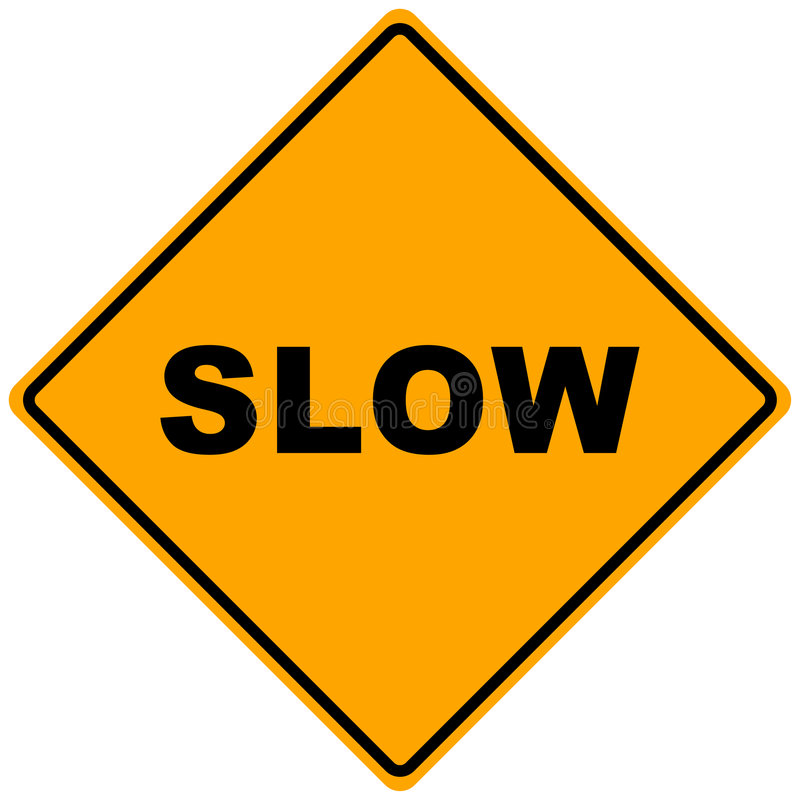 Road Sign Slow royalty free illustration