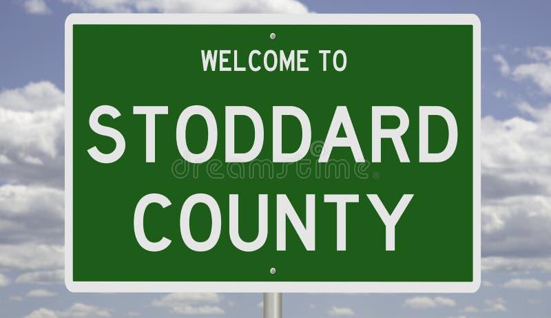 Road sign for Stoddard County 免版税库存图片