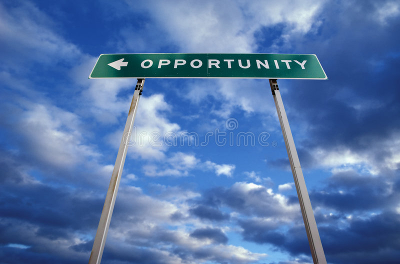Road Sign To Opportunity Royalty Free Stock Images