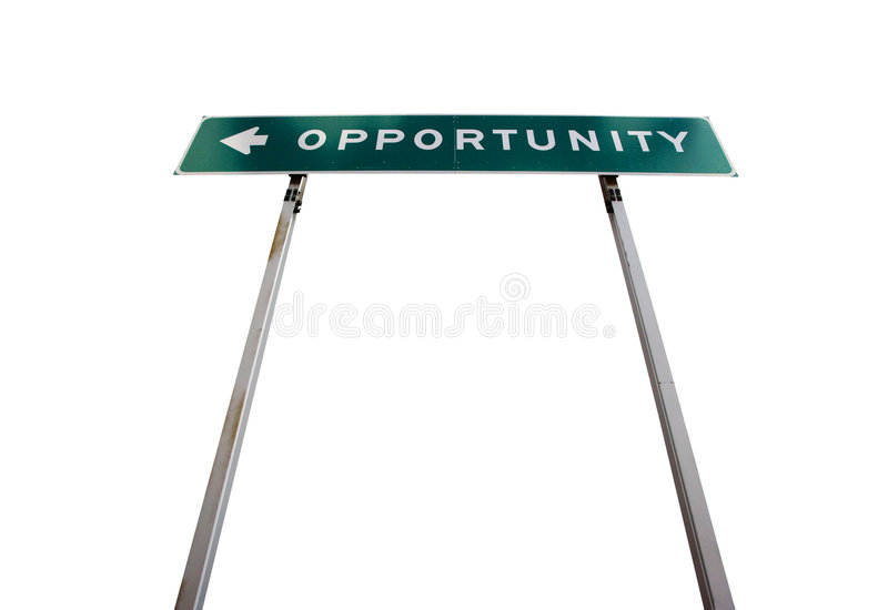 Download Road sign to Opportunity stock image. Image of nobody - 6920079
