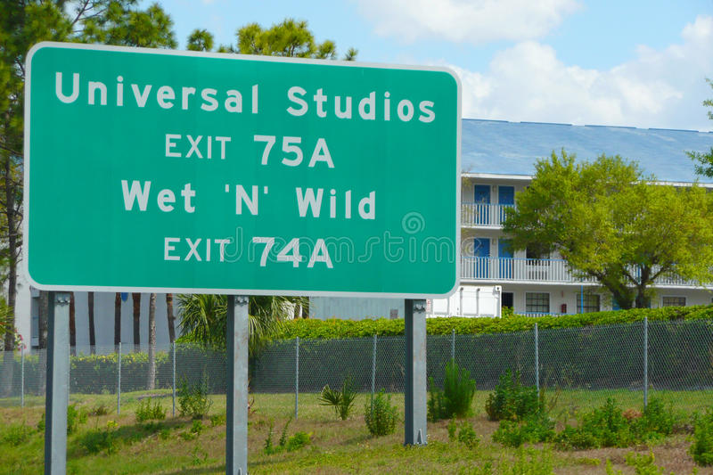 Road Sign for Universal Studios