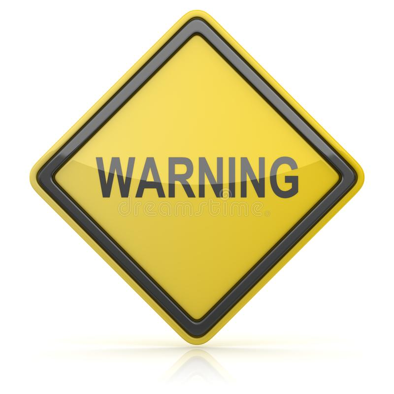 Road Sign - Warning. 3d render stock illustration