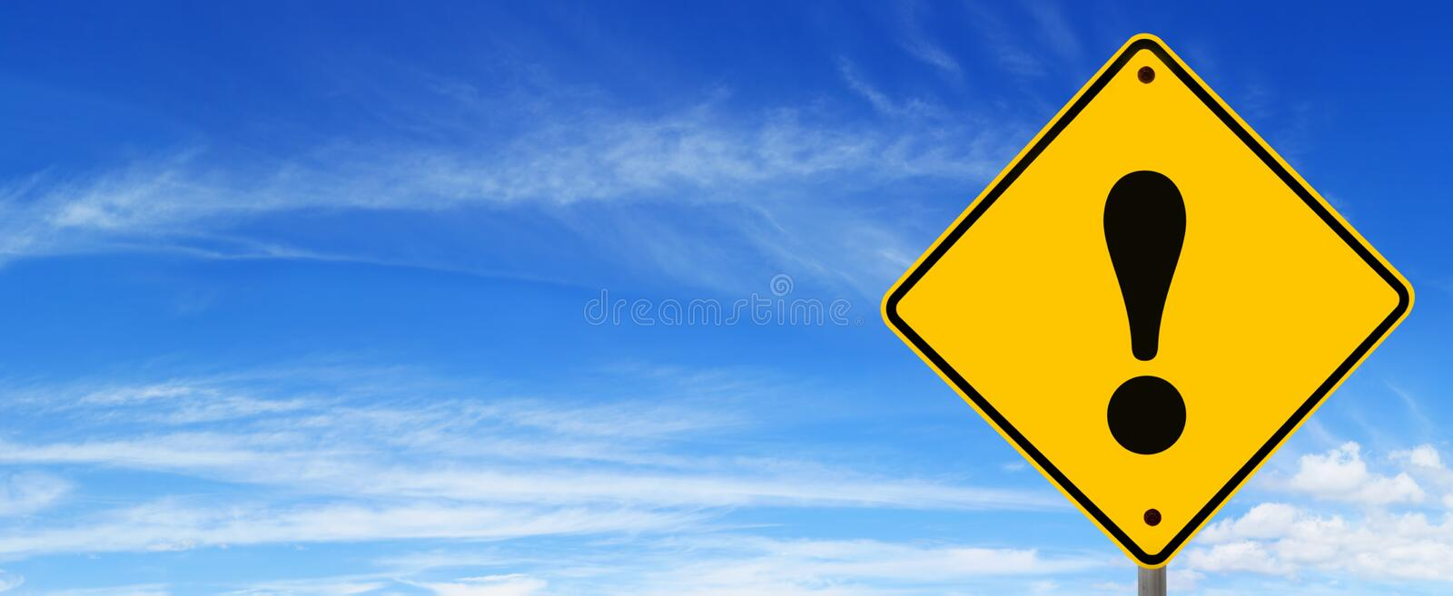 Download Road Sign Warning stock image. Image of exclamation, photograph - 14861113