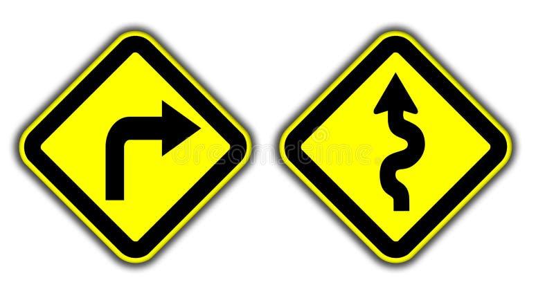 Road sign warning royalty free stock photography