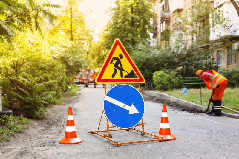 Municipal, water supply accident, water pipe repair, repair, road stock image